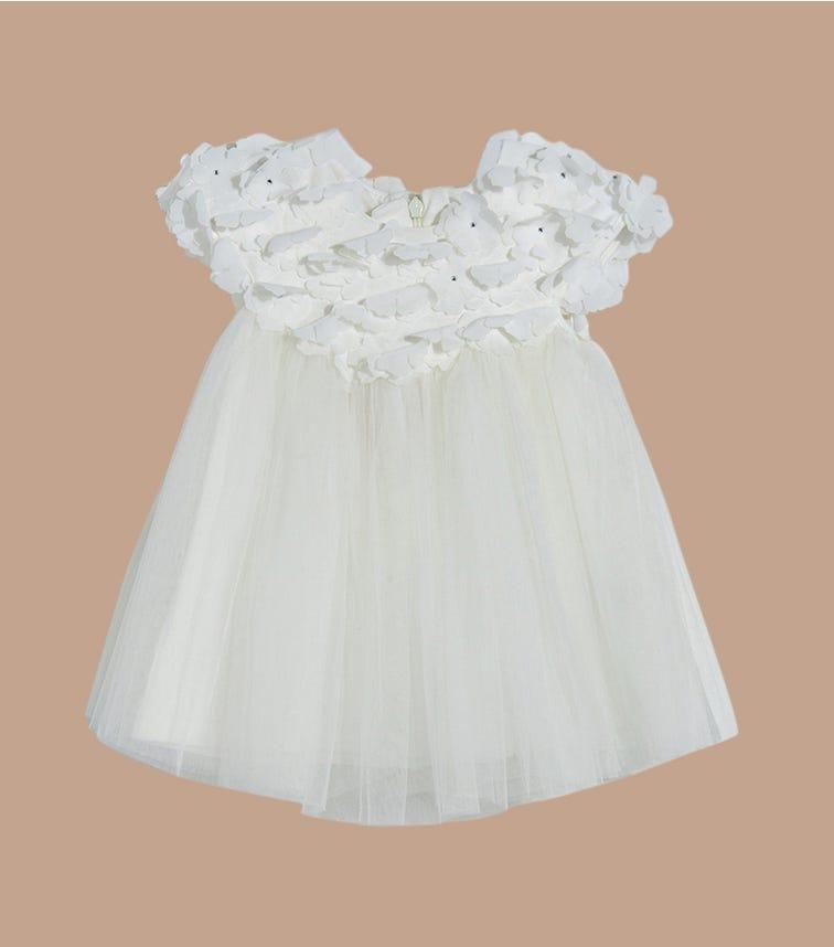 SOFIJA Tulle Dress 3D Flowers With Diamonds