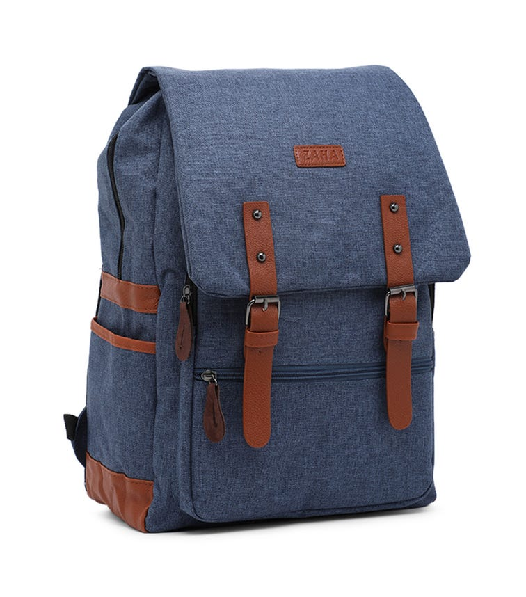 CCC Flapover Construct Dual Strap Backpack - Blue