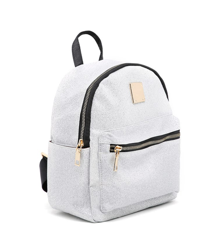 CCC Glitter Detail Backpack - Silver