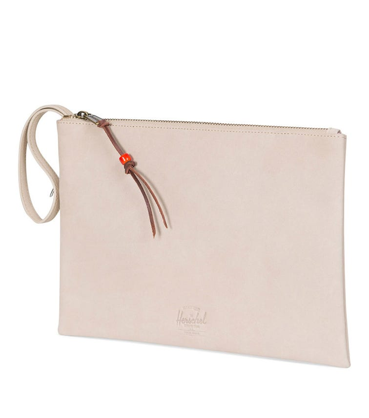 HERSCHEL Network Large Leather Pouch - Incense