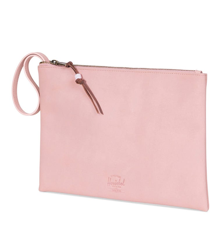 HERSCHEL Network Large Leather Pouch - Ash Rose