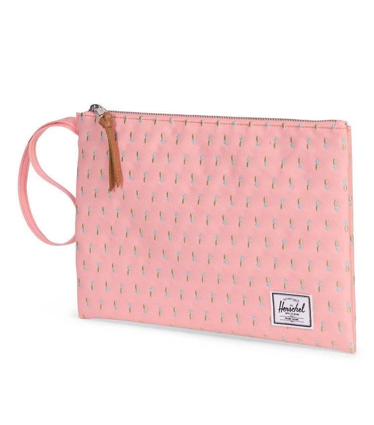HERSCHEL Network Large Pineapple Embroidery Pouch - Peach