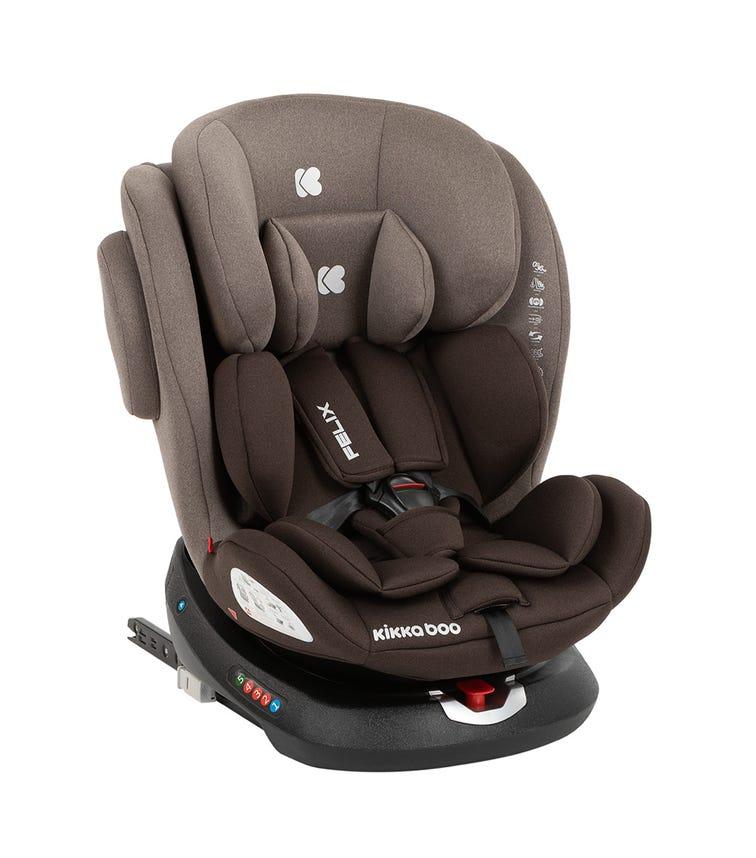 KIKKABOO Car Seat 0-1-2-3 (0-36 KG) Felix Isofix - Brown