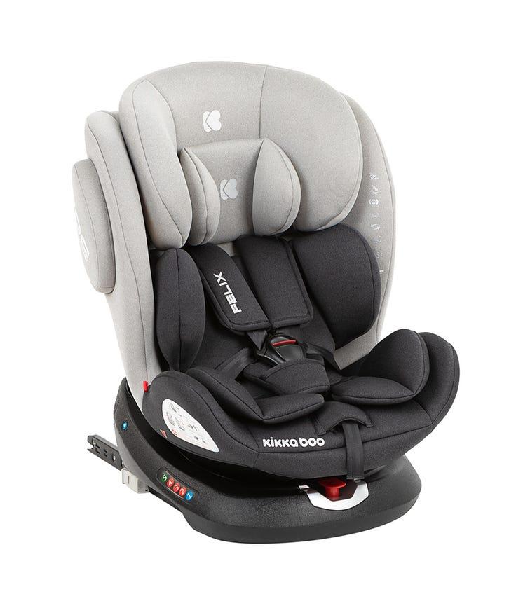 KIKKABOO Car Seat 0-1-2-3 (0-36 KG) Felix 2020 - Light Grey