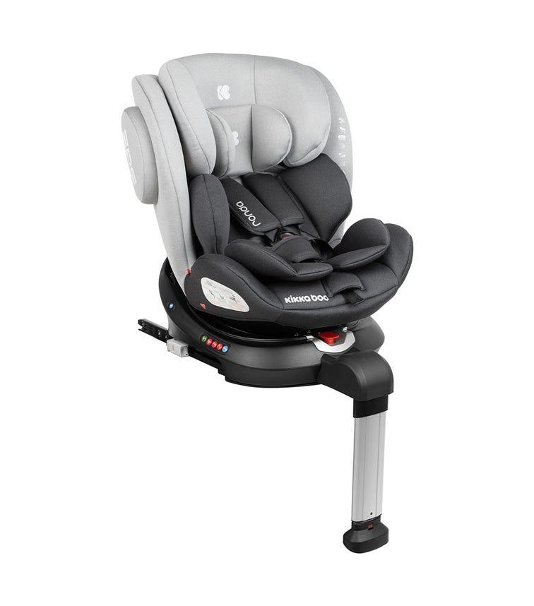 KIKKABOO Car Seat 0-1-2-3 (0-36 KG) Ronda Isofix - Light Grey