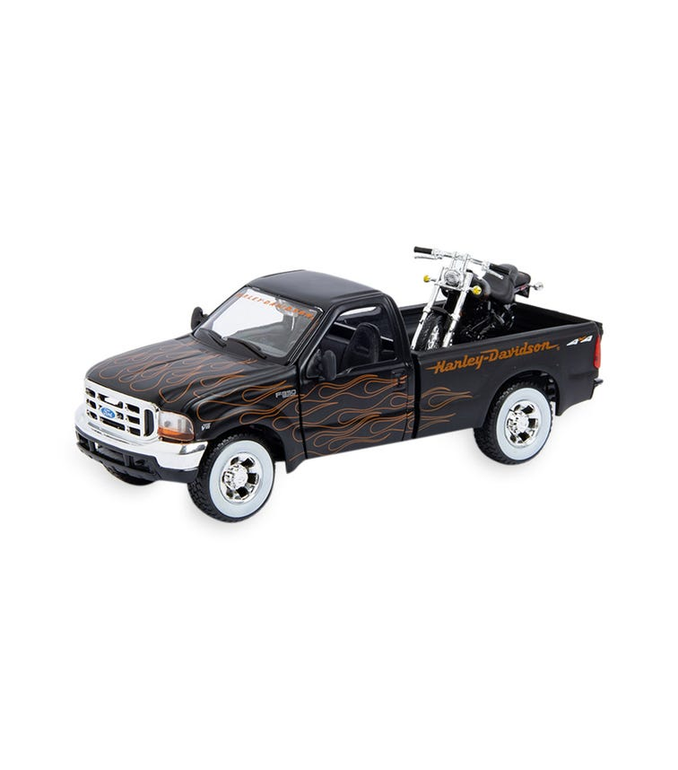 MAISTO 1:24 Scale Ford F350 Super Duty Pickup With 1:24 Scale FXSTB Night Train