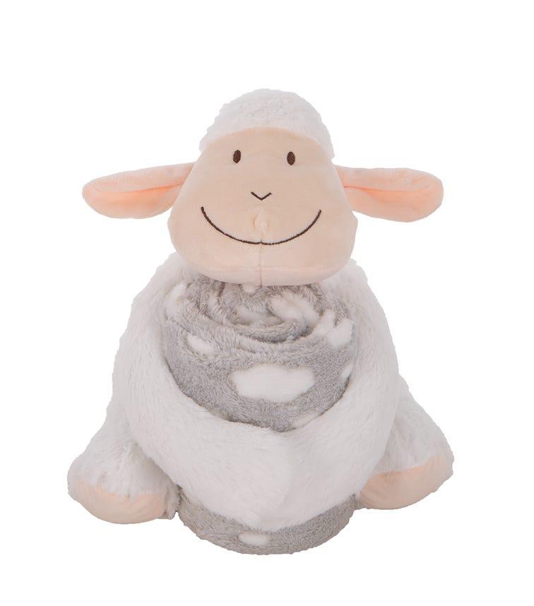 KIKKABOO Toy + Blanket Set - Lamb