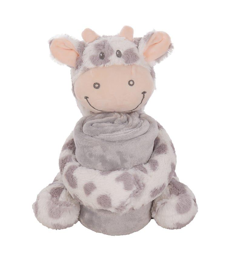 KIKKABOO Toy + Blanket Set - Cow