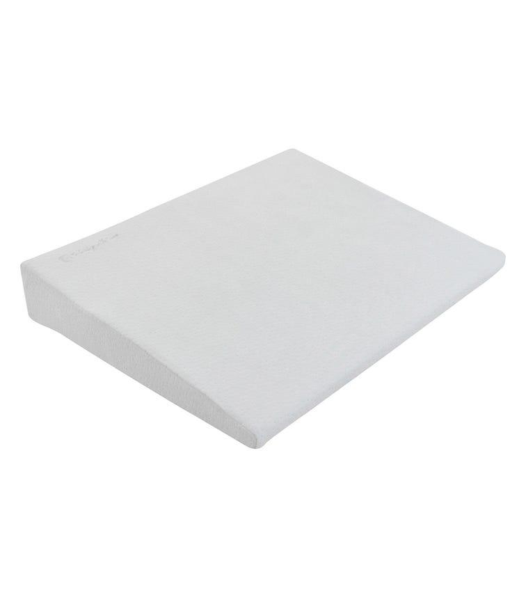KIKKABOO Memory Foam Cot Wedge - Grey Velvet