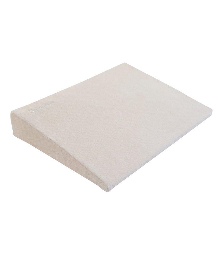 KIKKABOO Memory Foam Cot Wedge - Beige Velvet