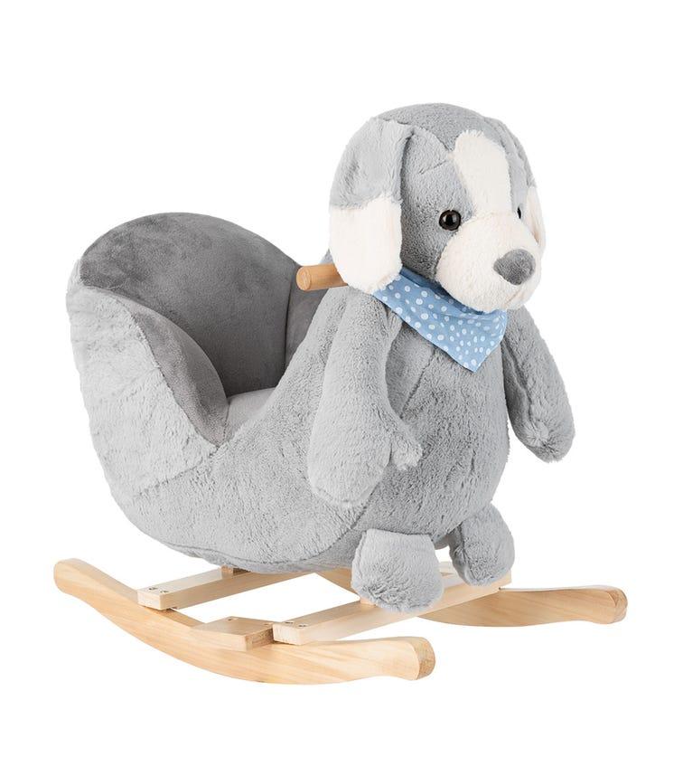 KIKKABOO Soft Rocking Toy With Seat - Grey Puppy