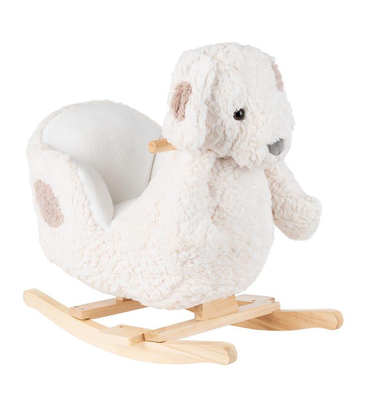 KIKKABOO Soft Rocking Toy With Seat - White Puppy