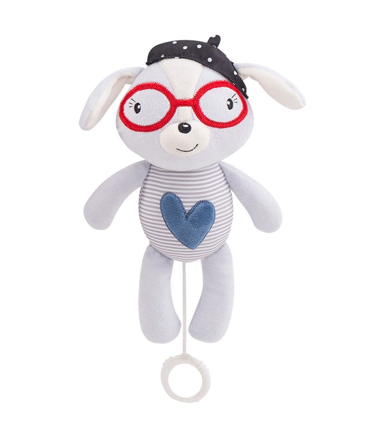 KIKKABOO Love Rome Musical Toy For Bed - Blue Heart