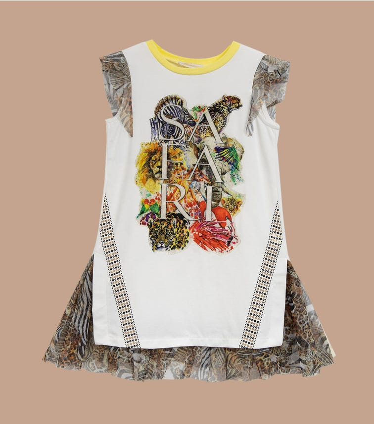 CHOUPETTE Printed Combined Dress