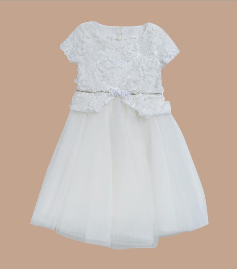 CHOUPETTE Lush Skirt Dress With 3D Flowers