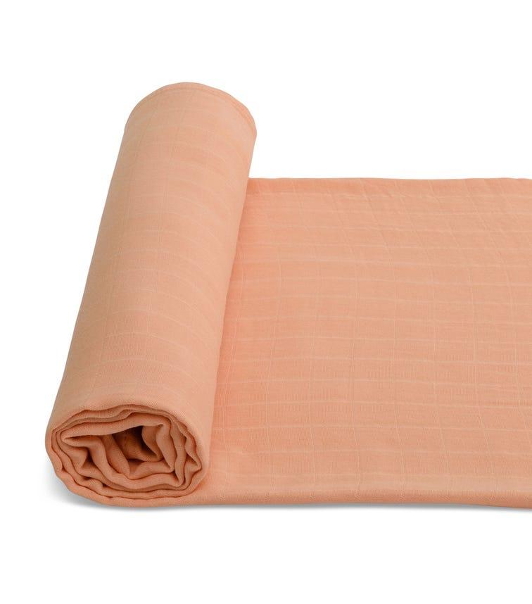 ANVI BABY Organic Bamboo Muslin Swaddle Wrap - Just Peachy