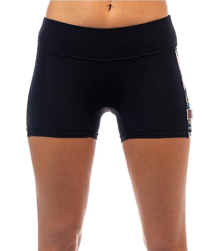 COEGA SUNWEAR Ladies Surf Shorts - Black Orchids