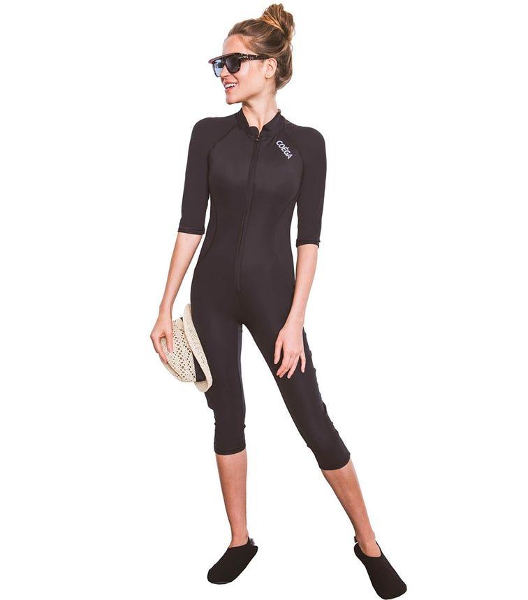 COEGA SUNWEAR Ladies Slim-Kini 3/4 - Black
