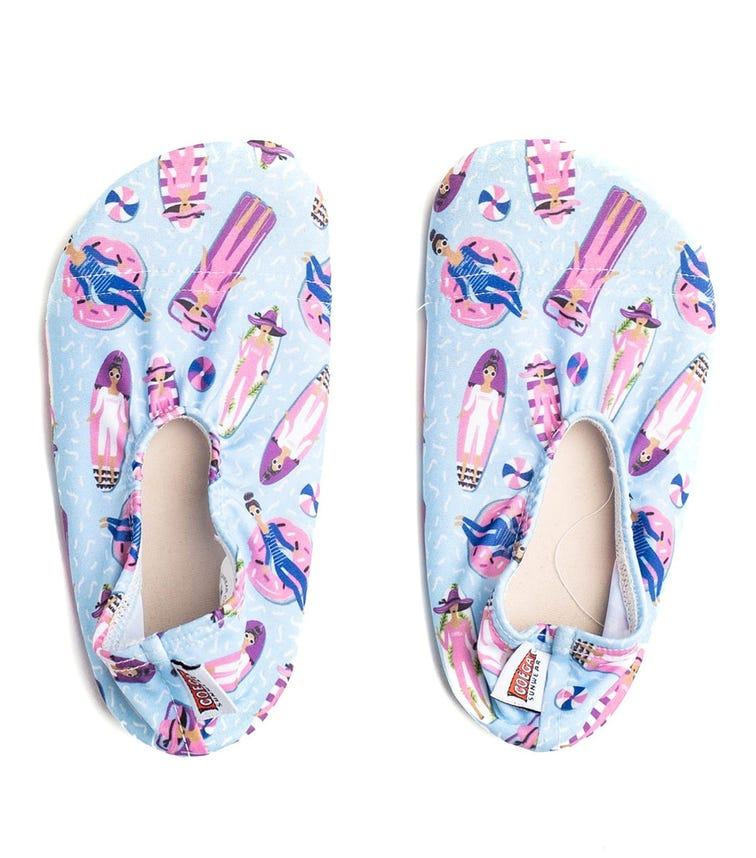 COEGA SUNWEAR Pool Shoes Infant - Lilac Ladies AOP
