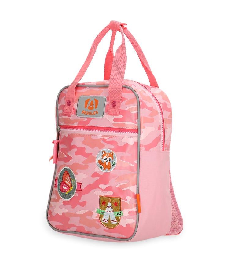 BEAGLES Rectangular Zipper Closure Backpack - Pink Scouting