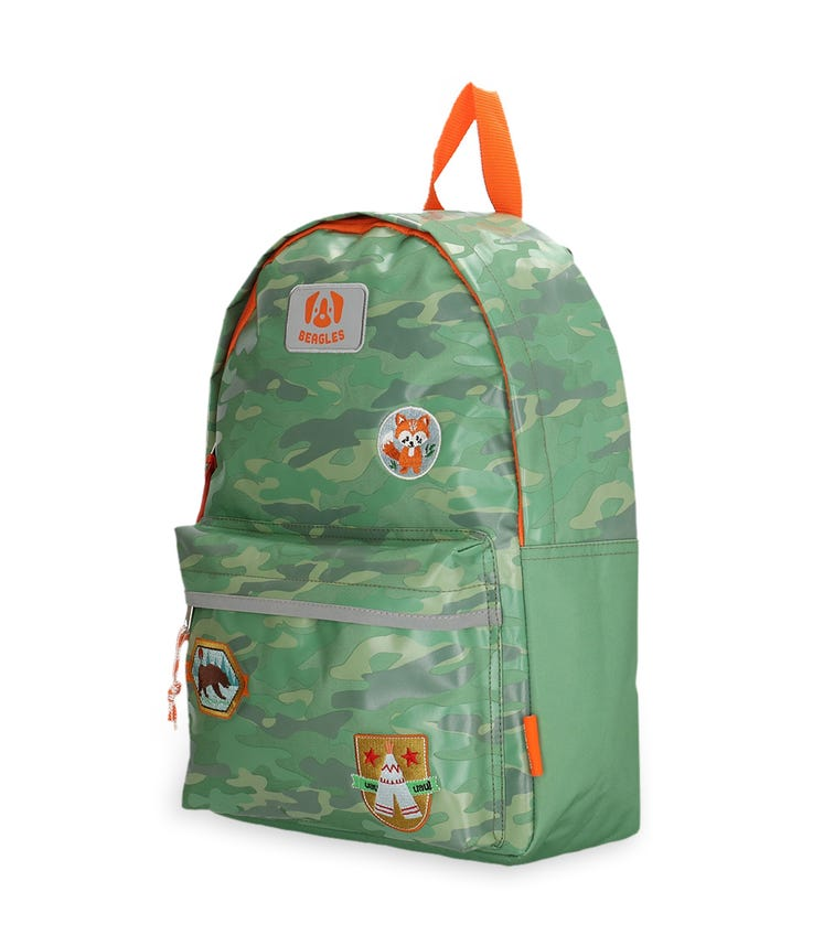 BEAGLES Rounded Zipper Closure Backpack - Mint Scouting