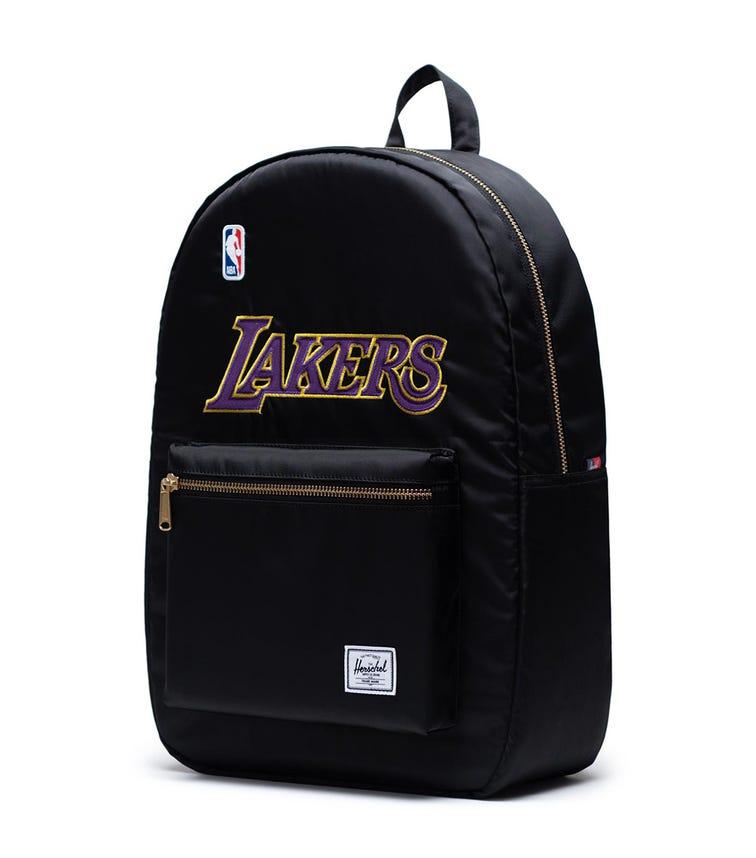 HERSCHEL Settlement Backpack - Black Los Angeles Lakers