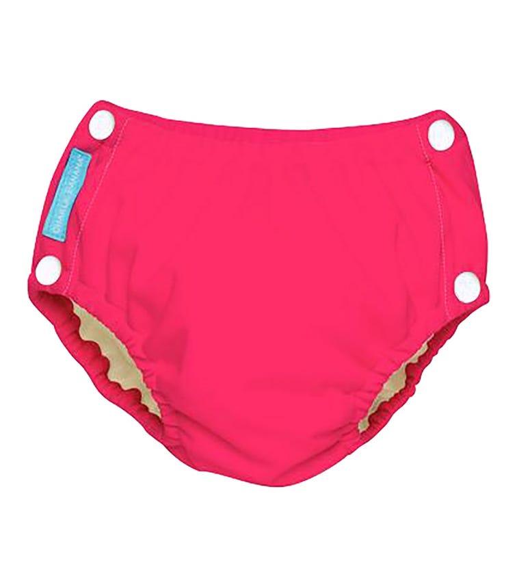 CHARLIE BANANA Reusable Easy Snaps Diaper (Medium) - Fluorescent Pink