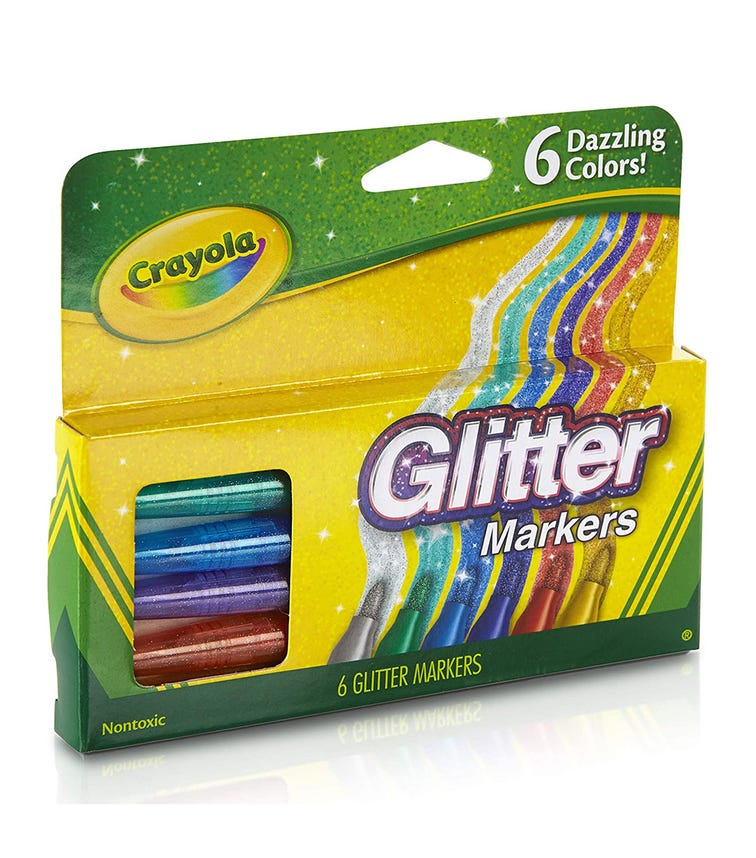 CRAYOLA 6-Pack Glitter Markers