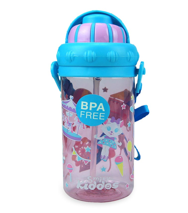 SMILY KIDDOS Sipper Water Bottle - Pink