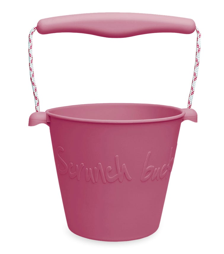 SCRUNCH Bucket  - Cherry Red