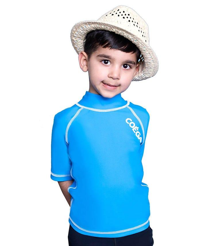 COEGA SUNWEAR Kids Boys Rash Guard - Blue Basic
