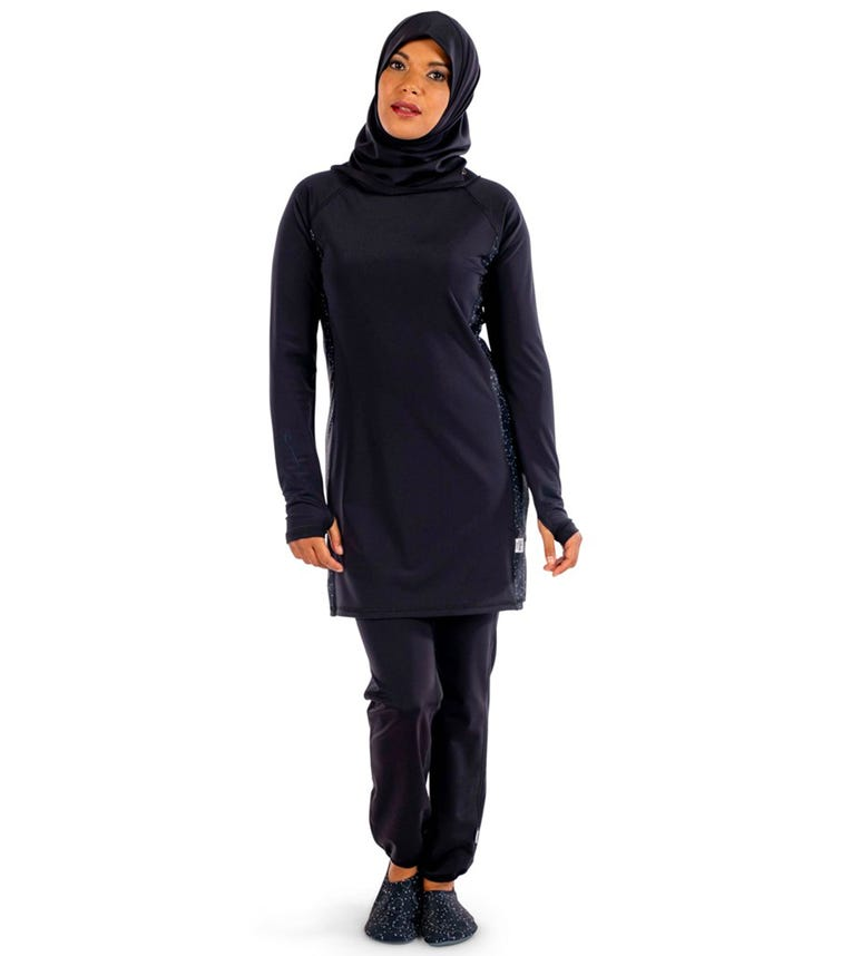 COEGA SUNWEAR Ladies Islamic 3pc Swimsuit - Black Minnie in the Stars (Disney 2021)