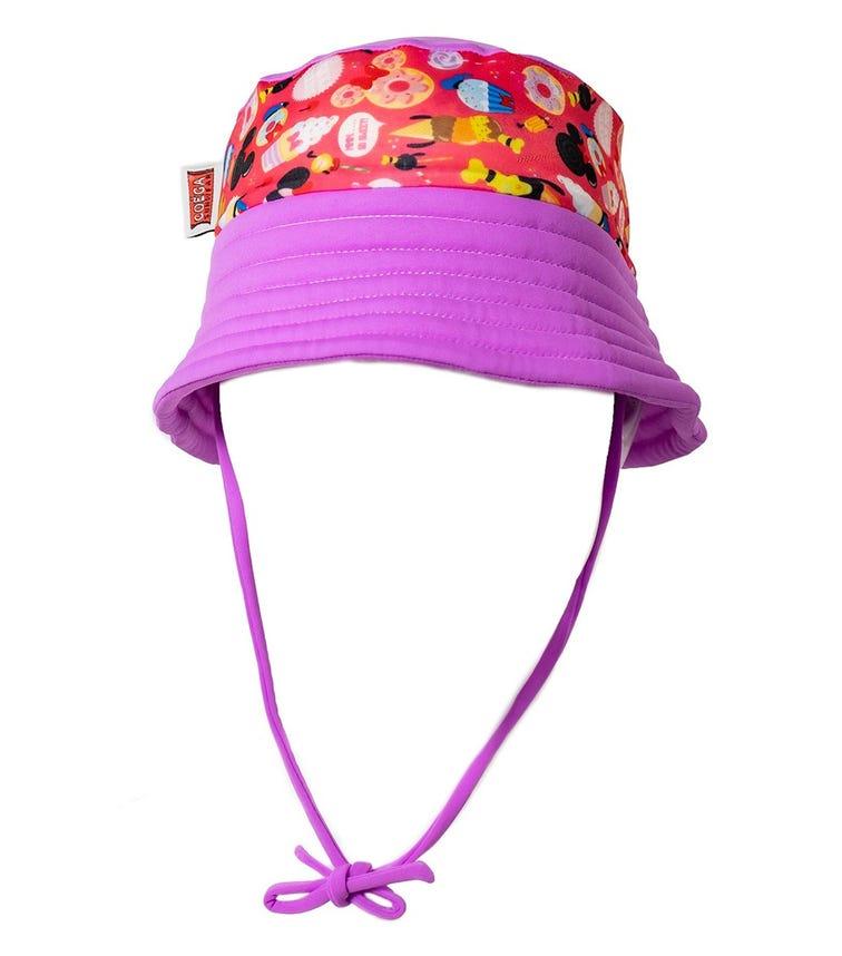 COEGA SUNWEAR Baby Girls Bucket Hat - Peachy Treats Minnie (Disney 2021)