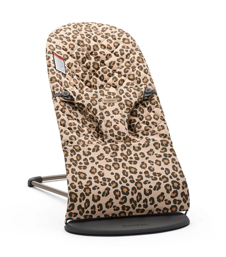 BABYBJORN  Bliss Bouncer (Cotton) -  Beige Leopard Spots