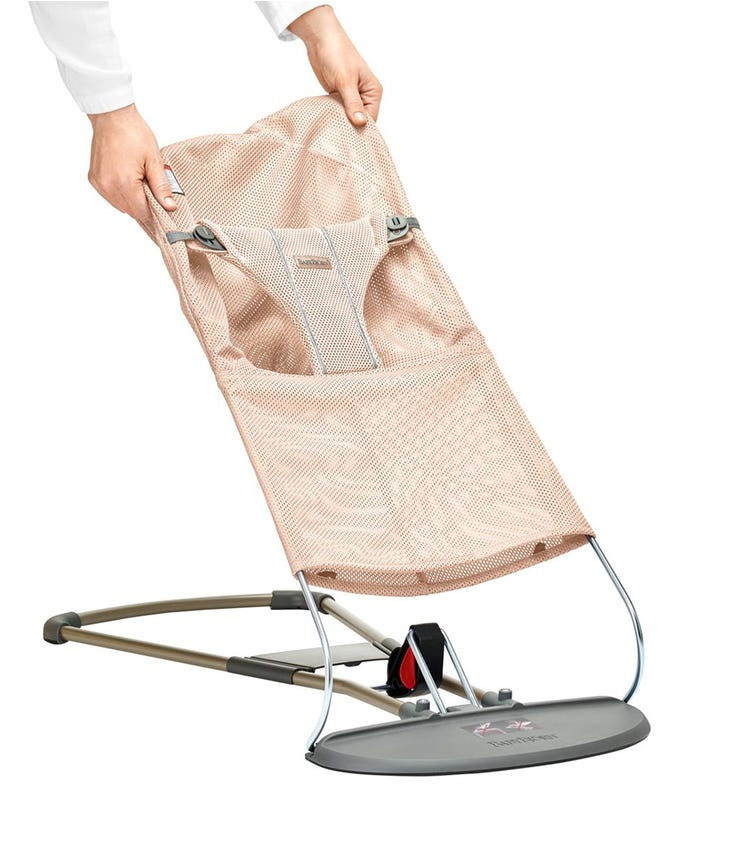 BABYBJORN  Fabric Seat Bliss Bouncer (Mesh) - Pearly Pink