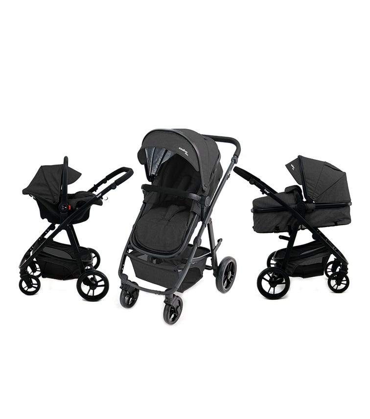 ASALVO Travel System Complete Convertible Two - Black