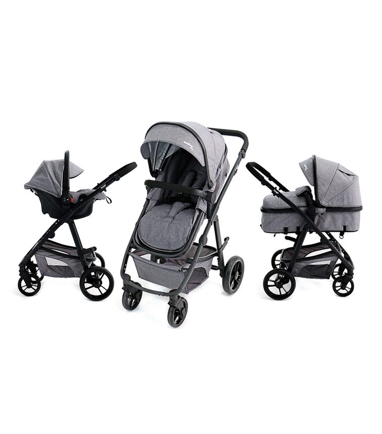 ASALVO Travel System Complete Convertible Two - Grey