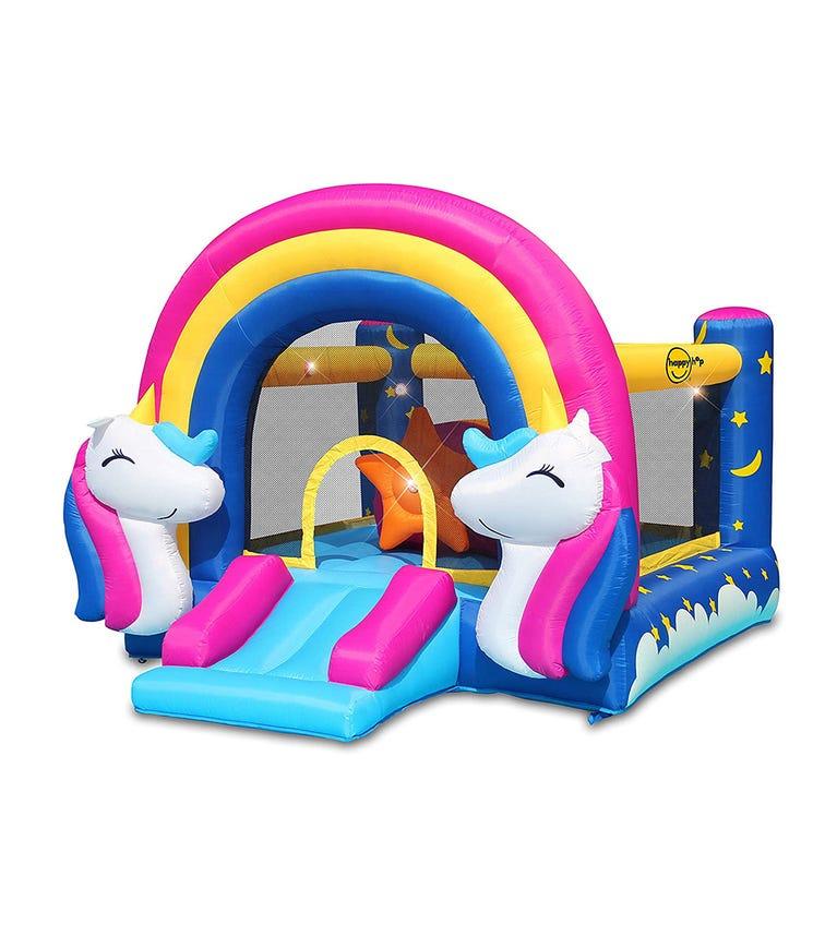HAPPY HOP Fantasy Unicorn Bouncer (335 x 265 x 215 CM)