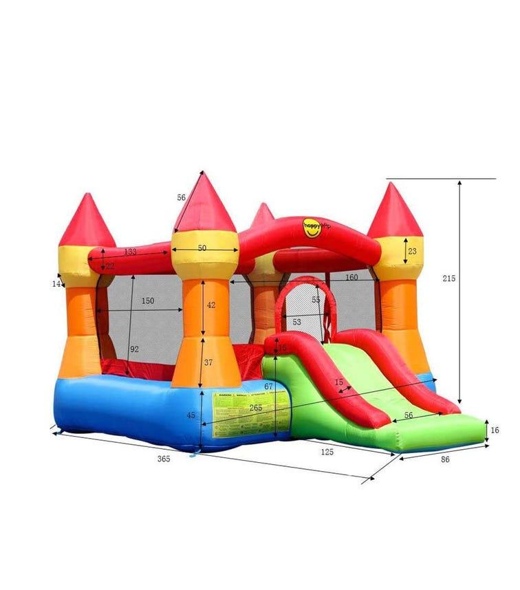 HAPPY HOP Castle Bouncer With Slide (500 x 400 x 300 CM)
