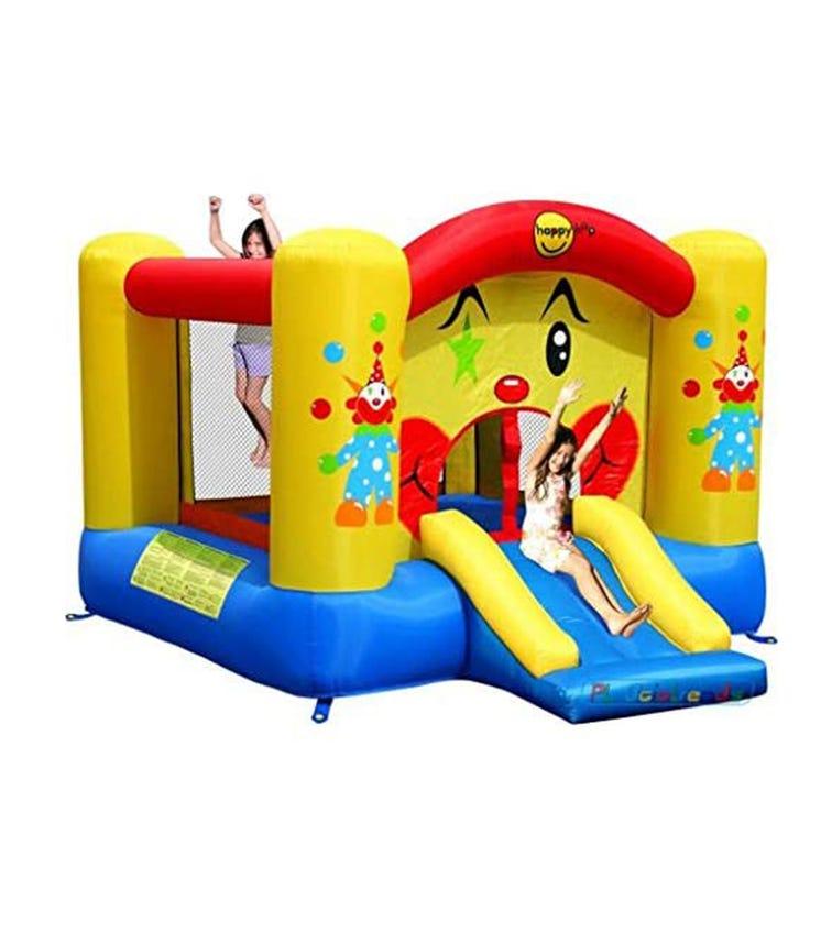 HAPPY HOP Clown Slide & Hoop Bouncer (300 x 225 x 175 CM)