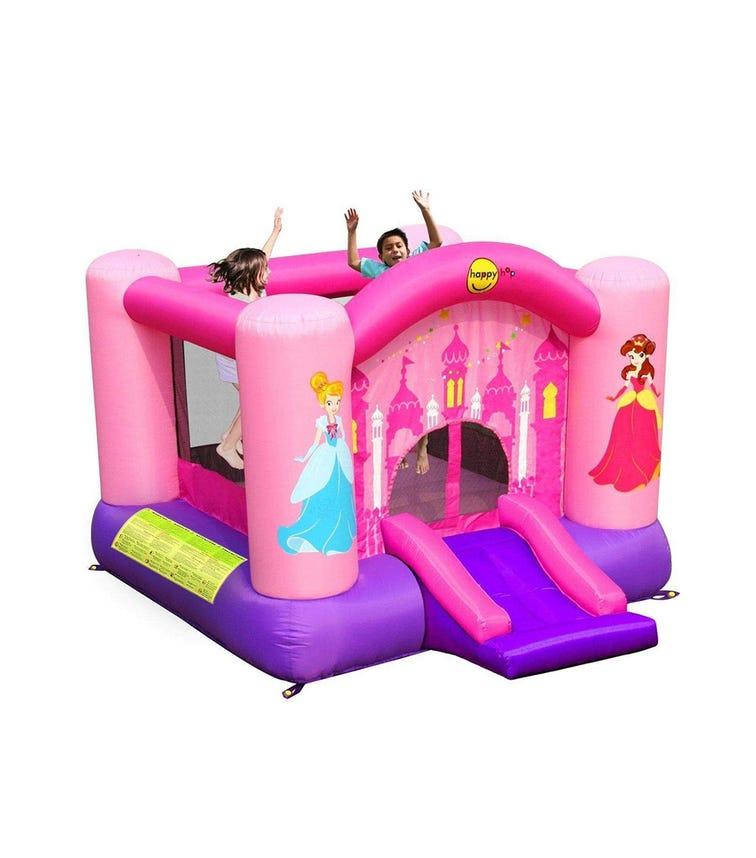 HAPPY HOP Princess Slide & Hoop Bouncer (300 x 225 x 175 CM)