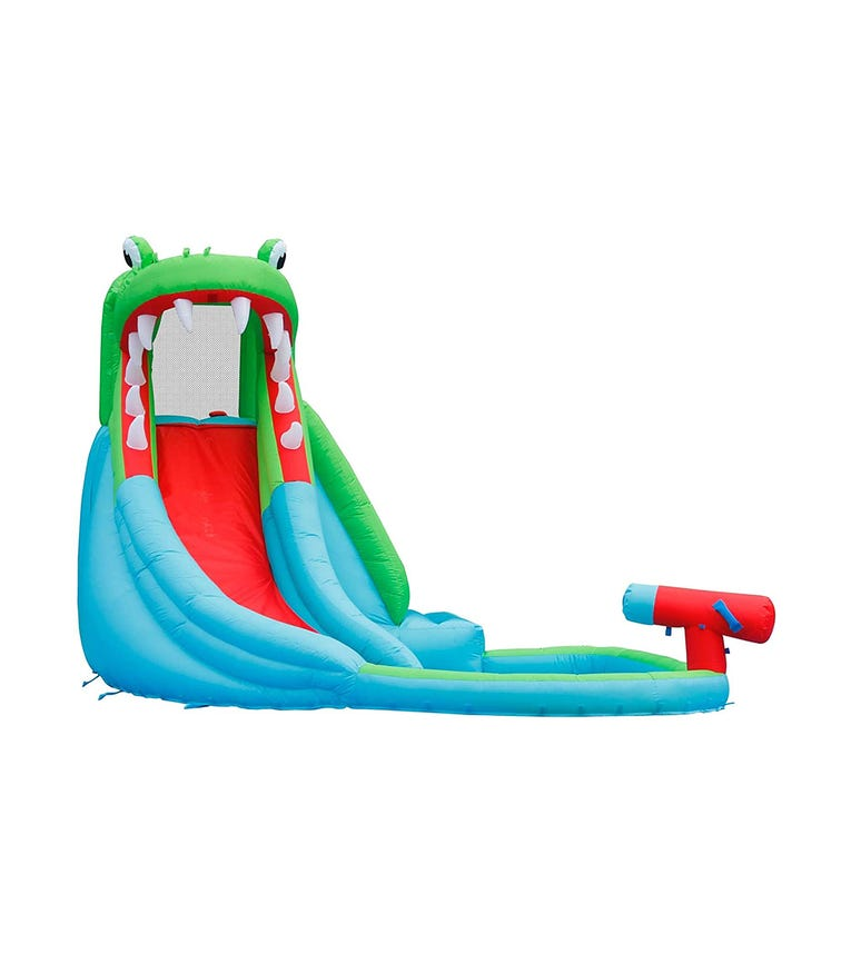 HAPPY HOP Inflatable Crocodile Pool-Slide  (350 x 300 x 230 CM)