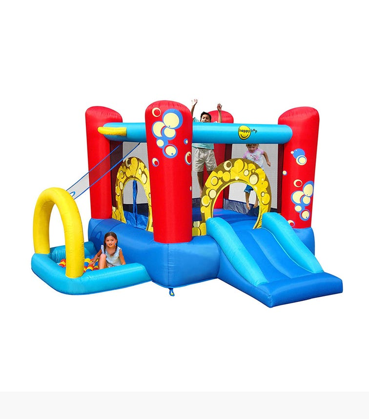 HAPPY HOP 4-In-1 Inflatable Bouncer With Slide (300 x 280 x 175 CM)
