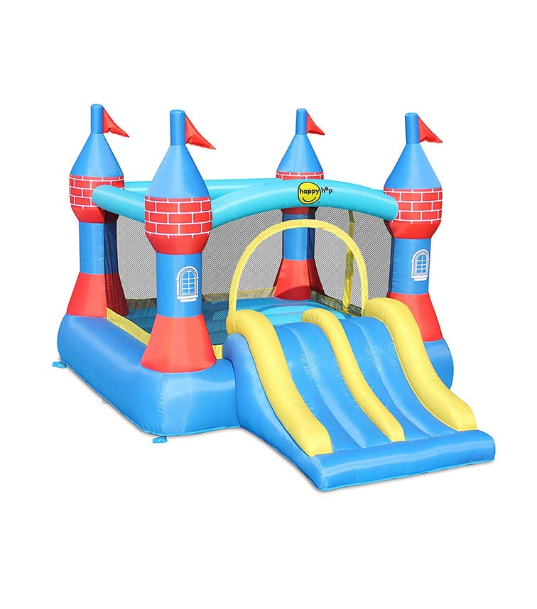 HAPPY HOP Inflatable Castle Bouncer With Double Slide (370 x 265 x 220 CM)