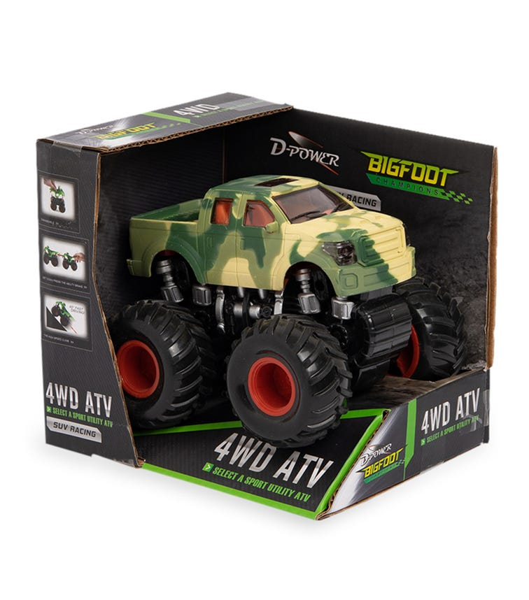 DPOWER 4WD Friction Pickup Truck - Camouflage