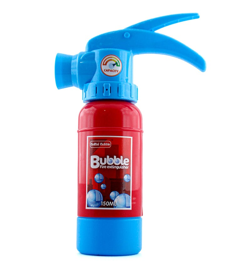 WANNA BUBBLES Fire Extinguisher Bubble Blower With Light And Music