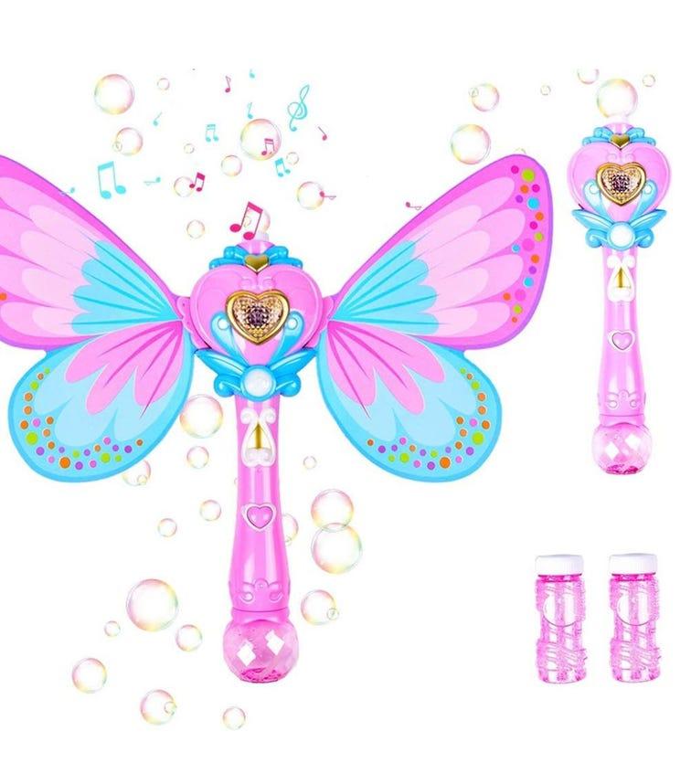 WANNA BUBBLES Light & Sound Fairy Bubble Wand