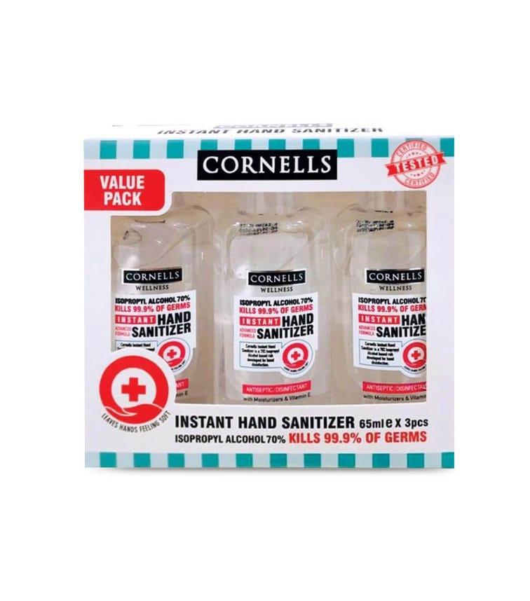 CORNELLS Hand Sanitizer Gel 65 ML X 3 Value Pack
