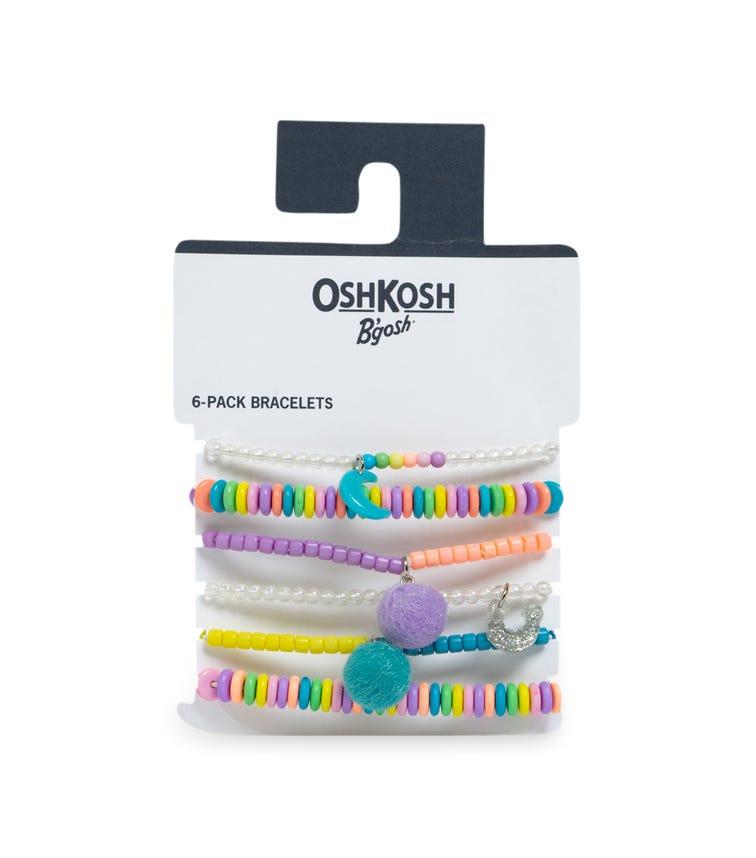 OSHKOSH 6-Pack Rainbow & Pom Pom Bracelets