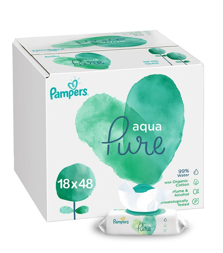 PAMPERS Wipes Pure 48 2+1C 864